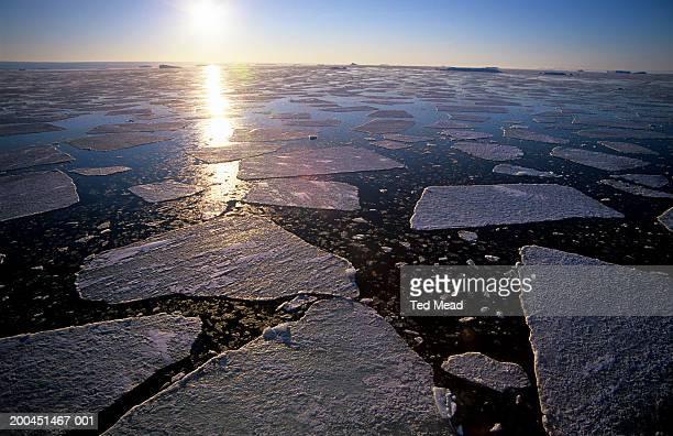 Antarctica, sea ice breaking up in late summer