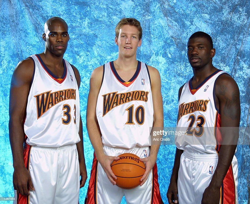 Warriors pose