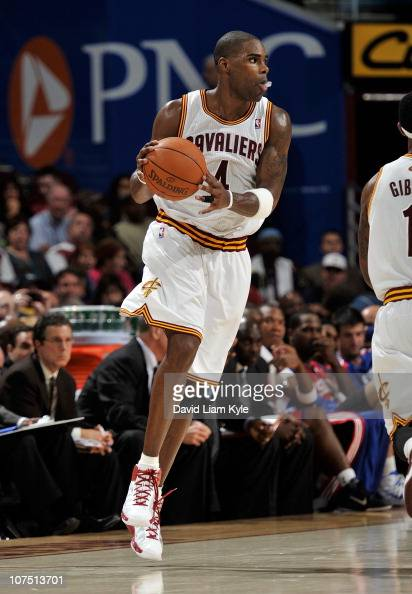 Antawn Jamison of the Cleveland Cavaliers handles the ball during a game against the Philadelphia 76ers at The Quicken Loans Arena on November 16...