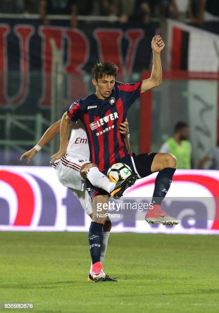 Ante Budimir during the Serie A match between FC Crotone and AC Milan on August 20 2017 in Crotone Italy