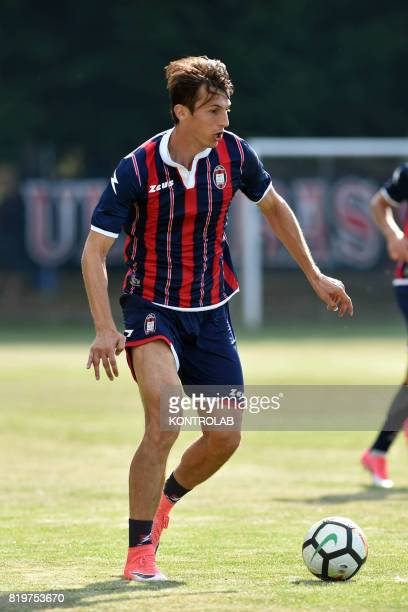 Ante Budimir striker of FC Crotone during a friendly with a local representative in the retreat of Moccone in Sila