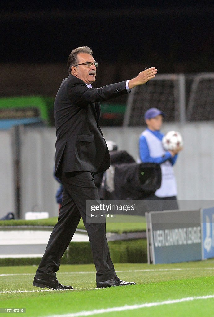 Ante Cacic, coach of NK Maribor during the UEFA Champions League play-off first leg match between FC Viktoria Plzen and NK Maribor held on August 20, 2013 at the Struncovy Sady Stadion in Plzen, Czech Republic.