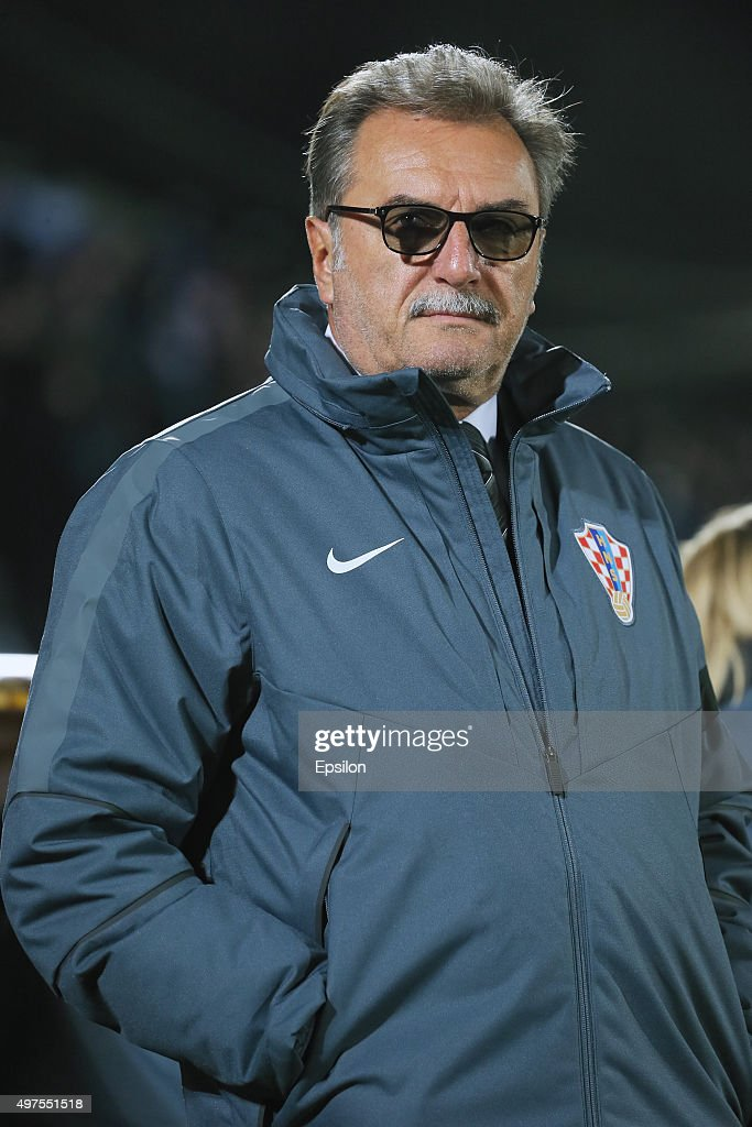 Ante Cacic, head coach of Croatia during international friendly football match between Russia and Croatia at Olymp II stadium on November 17, 2015 in Rostov-on-Don, Russia.