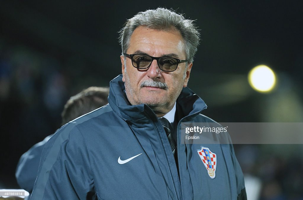 Ante Cacic, head coach of Croatia during the international friendly football match between Russia and Croatia at Olymp II stadium on November 17, 2015 in Rostov-on-Don, Russia.