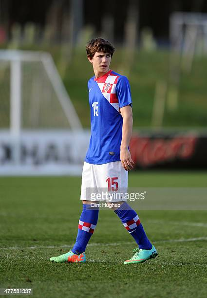 Ante Coric of Croatia during the U18 International friendly match between England and Croatia at St Georges Park on March 3 2014 in Burton upon Trent...