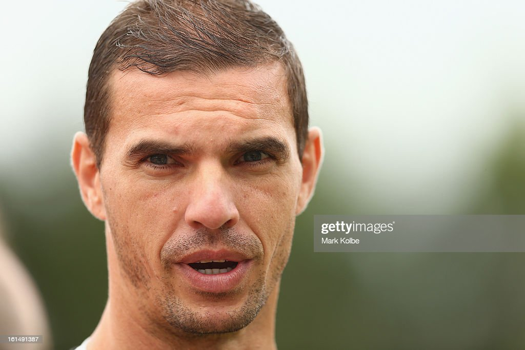 Ante Covic speaks to the media before a Western Sydney Wanderers A-League training session at Blacktown International Sportspark on February 12, 2013 in Sydney, Australia.