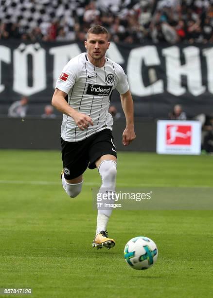 Ante Rebic of Frankfurt controls the ball during the Bundesliga match between Eintracht Frankfurt and VfB Stuttgart at CommerzbankArena on September...