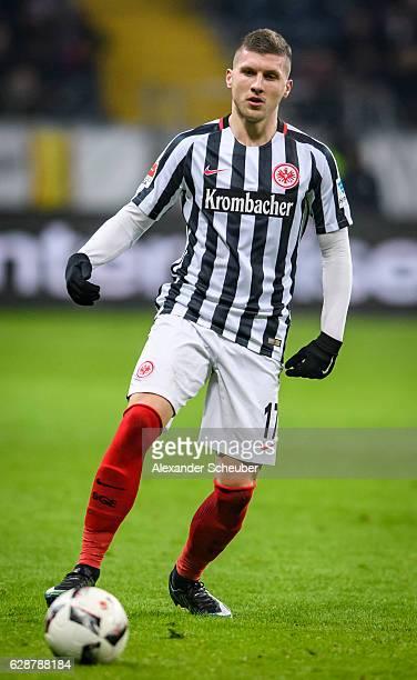 Ante Rebic of Frankfurt in action during the Bundesliga match between Eintracht Frankfurt and TSG 1899 Hoffenheim at CommerzbankArena on December 9...