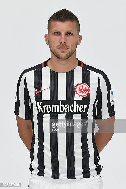 Ante Rebic poses during the Eintracht Frankfurt Team Presentation on July 21 2016 in Frankfurt am Main Germany