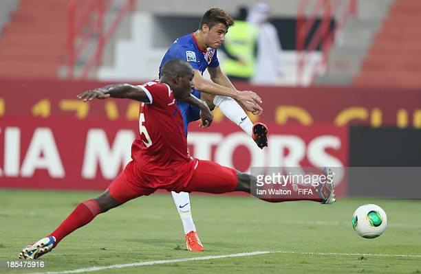 Ante Roguljic of Croatia scores a goal during the Group C FIFA U17 World Cup match between Croatia and Panama at Fujairah Stadium on October 21 2013...