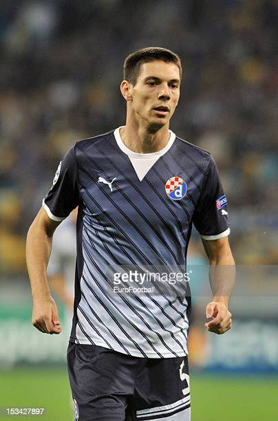 Ante Rukavina of GNK Dinamo Zagreb in action during the UEFA Champions League group stage match between FC Dynamo Kyiv and GNK Dinamo Zagreb at the...
