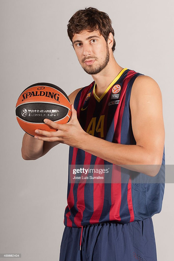 Ante Tomic, #44 of FC Barcelona poses during the FC Barcelona 2014/2015 Turkish Airlines Euroleague Basketball Media Day at Ciutat Esportiva Joan Gamper on September 18, 2014 in Barcelona, Spain.