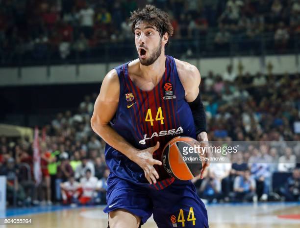 Ante Tomic of Barcelona in action during the 2017/2018 Turkish Airlines EuroLeague Regular Season game between Crvena Zvezda mts Belgrade and FC...