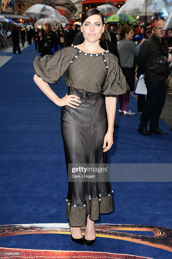 Ante Traue attends the European premiere of 'Man Of Steel' at The Empire Leicester Square on June 12, 2013 in London, England.