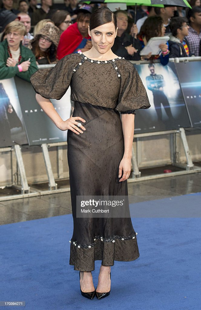 Ante Traue attends the UK Premiere of 'Man of Steel' at Odeon Leicester Square on June 12, 2013 in London, England.