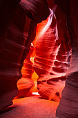 Sandstone slot canyon of the Southwest.