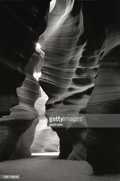Antelope Canyon Sandstone Walls, Black and White
