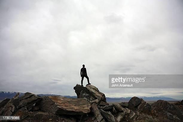 Antelope Island, Utah. Road-trip male