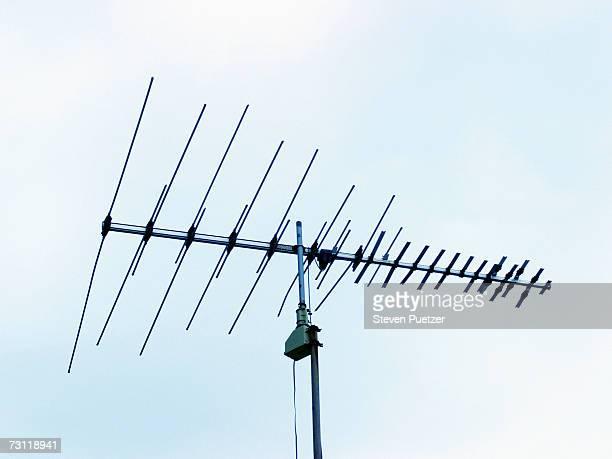 Antenna against sky