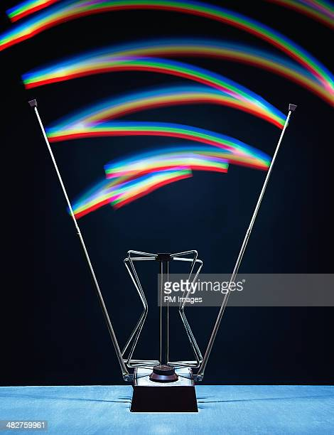 TV antenna receiving waves