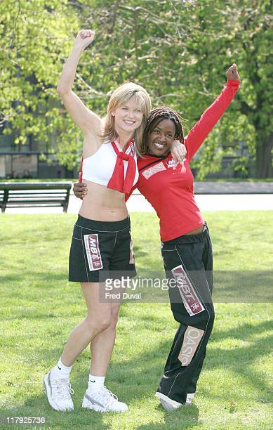 Anthea Turner and Diane Louise Jordan The Celebrity team is running in aid of MBT and Oasis UK Helping Children Step Into A Better Future