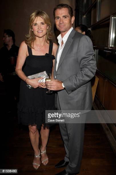 Anthea Turner and Grant Bovey attend Karen Millen's OBE celebration party at 17 Berkeley Street on June 11 2008 in London England