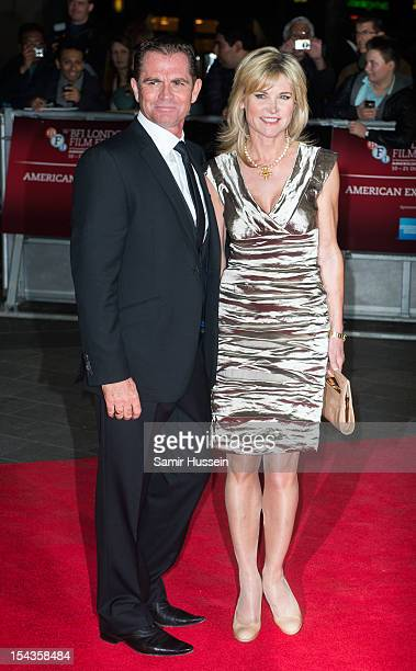 Anthea Turner and Grant Bovey attend the Premiere of 'Crossfire Hurricane' during the 56th BFI London Film Festival at Odeon Leicester Square on...