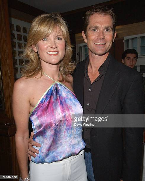 Anthea Turner and her husband Grant Bovey attend the 'Brooke Hospital For Animals' party at Monte's June 22 2004 in London England Some of the guests...