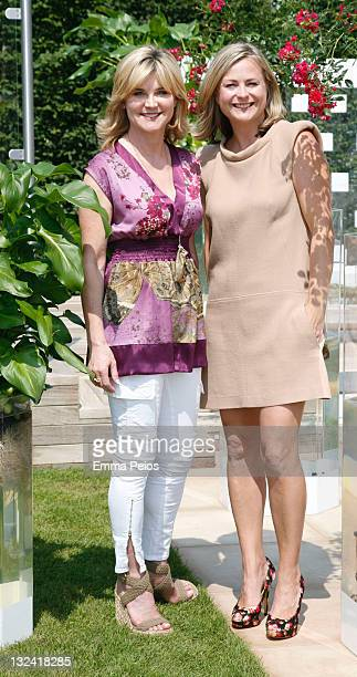 Anthea Turner and Philippa Forrester attends the first day of Hampton Court Palace Flower Show at Hampton Court Palace on July 3 2011 in London...