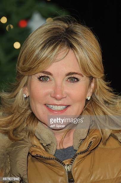 Anthea Turner at a photocall for the opening of Hyde Park's Winter Wonderland at Hyde Park on November 19 2015 in London England