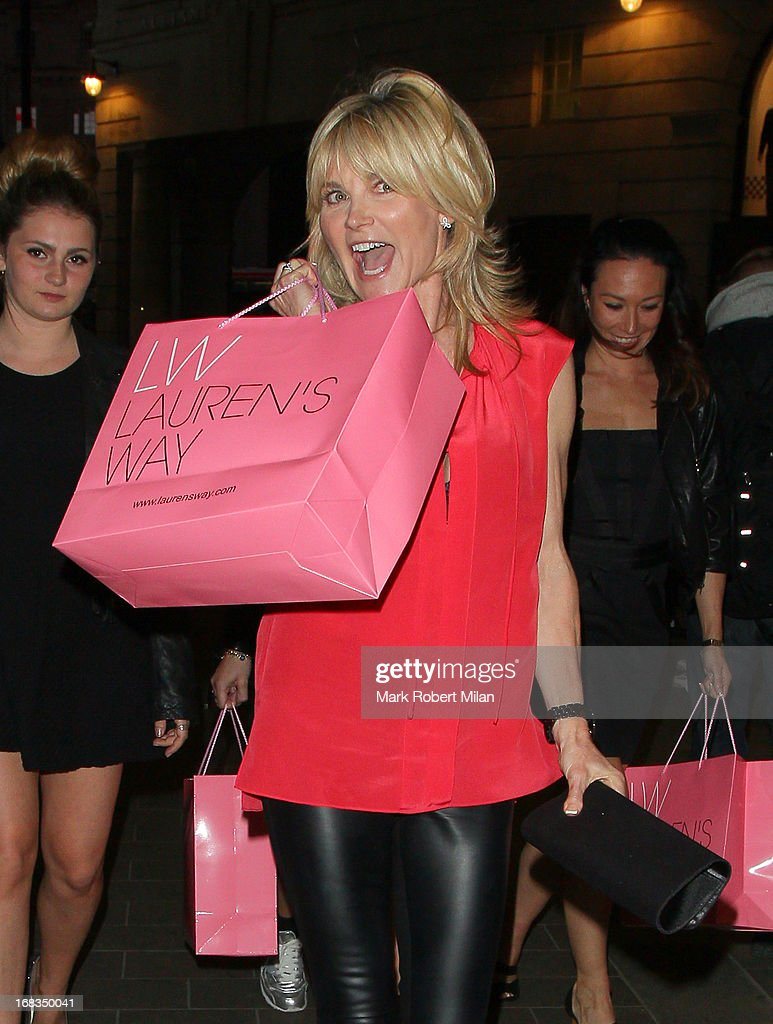 Anthea Turner at Bar Blanco on May 8, 2013 in London, England.