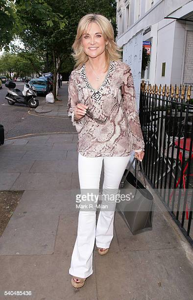 Anthea Turner at Beach Blanket Babylon on June 15 2016 in London England