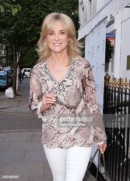 Anthea Turner at Beach Blanket Babylon on June 15 2016 in London England