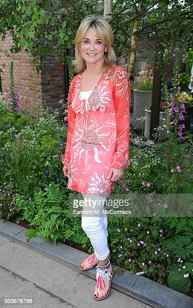 Anthea Turner attends Chelsea Flower Show press day at Royal Hospital Chelsea on May 23 2016 in London England The show which has run annually since...