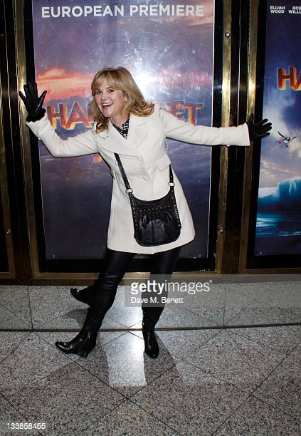 Anthea Turner attends the 'Happy Feet Two' european premiere at the Empire Leicester Square on November 20 2011 in LondonEngland