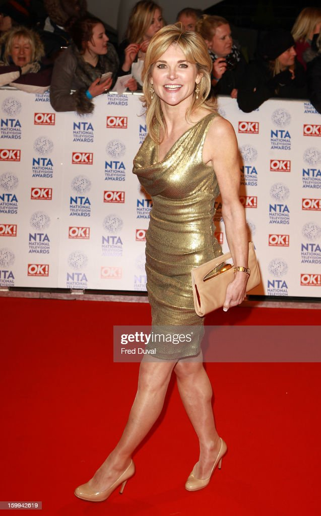 Anthea Turner attends the National Television Awards at 02 Arena on January 23, 2013 in London, England.