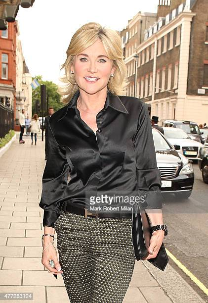 Anthea Turner attends the Richard Desmond book launch party at the Claridges hotel ballroom on June 15 2015 in London England