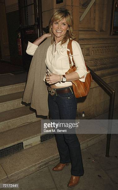 Anthea Turner attends The Secret Policeman's Ball at The Royal Albert Hall on October 14 2006 in London England The event sees the launch of Amnesty...