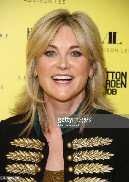 Anthea Turner attends the World Premiere of 'The Hatton Garden Job' at Curzon Soho on April 11 2017 in London England
