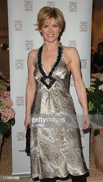 Anthea Turner during BADA Antiques and Fine Art Fair VIP Gala Evening Arrivals at Duke Of York's HQ in London Great Britain