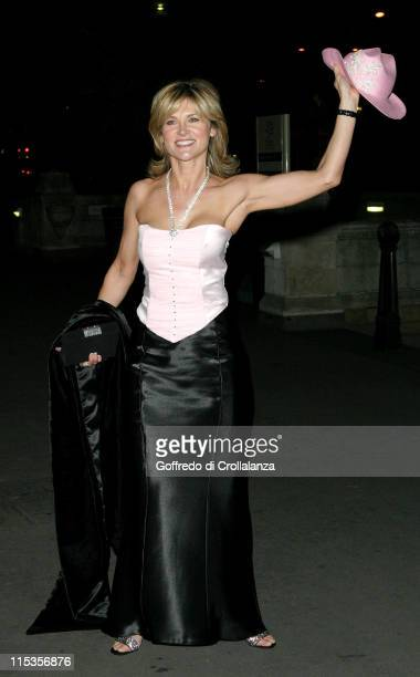 Anthea Turner during 'Hats Off To Barbados' Ball at National History Museum in London Great Britain