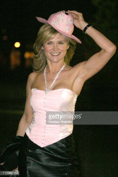 Anthea Turner during 'Hats Off To Barbados' Ball at The Natural History Museum in London Great Britain