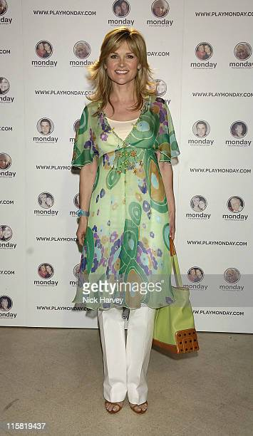 Anthea Turner during Monday The Charities Lottery – Launch Party at Titanic in London Great Britain