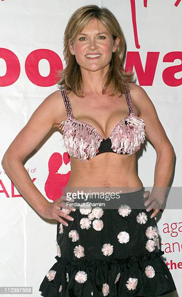 Anthea Turner during Moonwalk Breast Cancer Charity Appeal Photocall at Hyde Park in London Great Britain