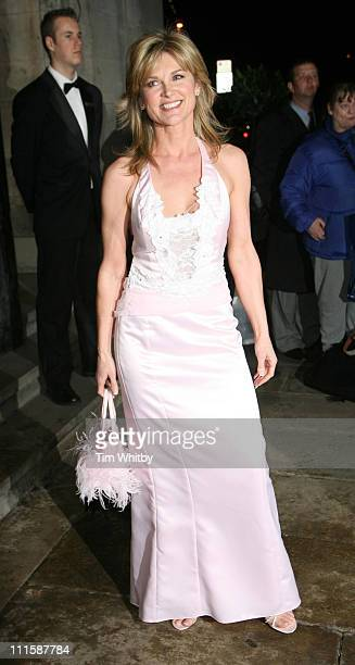 Anthea Turner during Royal Television Society Programme Awards Outside Arrivals at Grosvenor House Hotel in London Great Britain