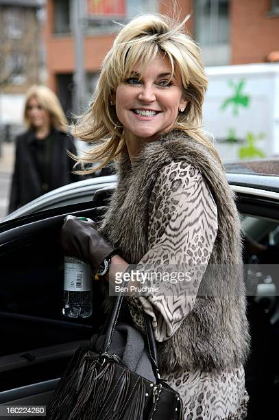 Anthea Turner is sighted departing ITV Studios on January 28 2013 in London England