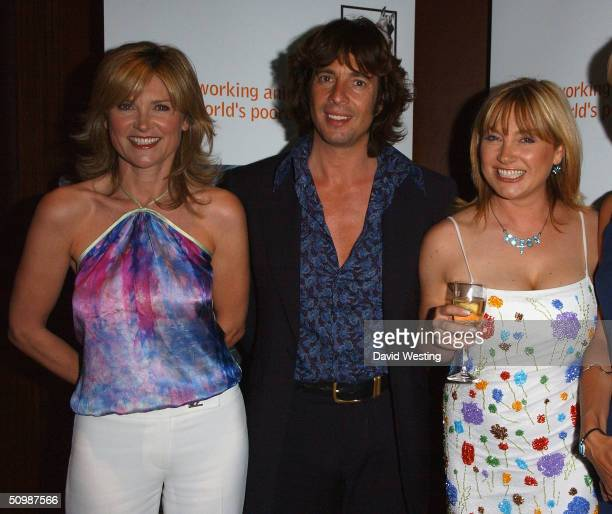 Anthea Turner Laurence LlewelynBowen and Wendy Turner attend the 'Brooke Hospital For Animals' party at Monte's June 22 2004 in London England Some...