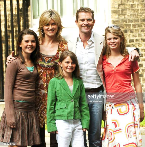 Anthea Turner with her husband Grant Bovey and family