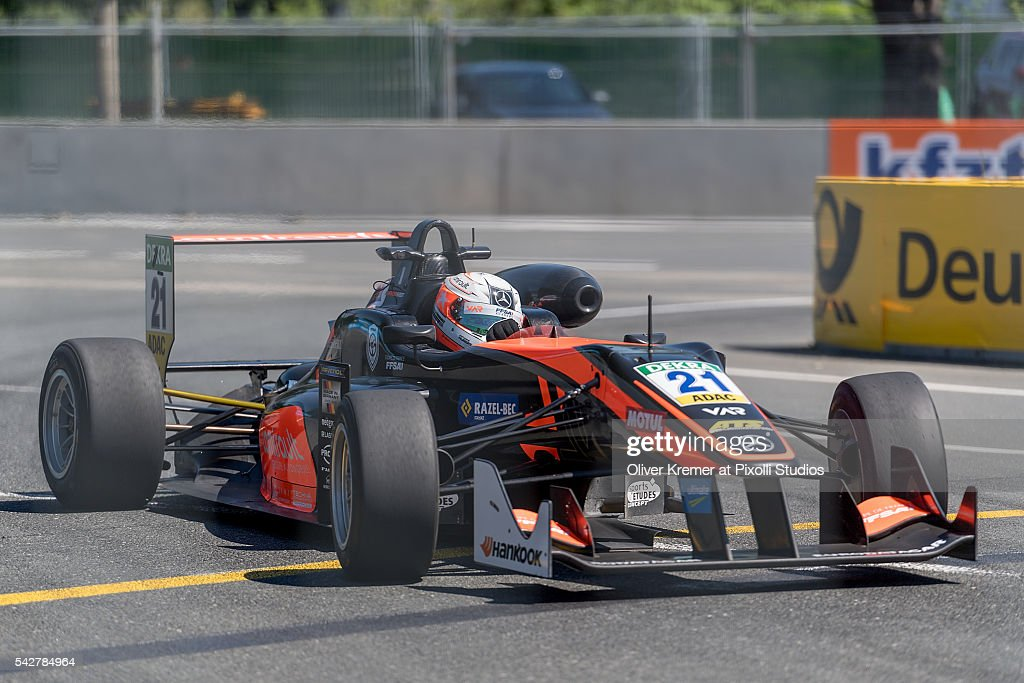Anthoine Hubert (FRA) of FIA Formula 3 Team van Amersfoort Racing during a free practice session in preparation for the upcoming 2016 FIA Formula 3 European Championships at the Norisring during Day 1 of the German Touring Car Championship 2016 - Session 4 on June 24, 2016 in Nuremberg, Germany.