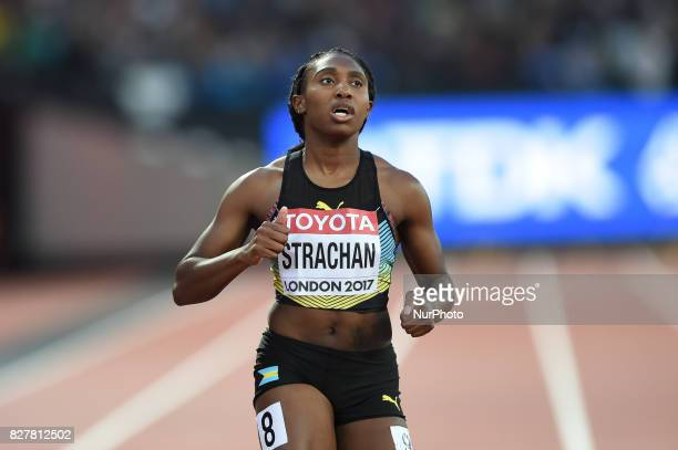 Anthonique STRACHAN Bahamas during 200 meter heats in London at the 2017 IAAF World Championships athletics on August 8 2017